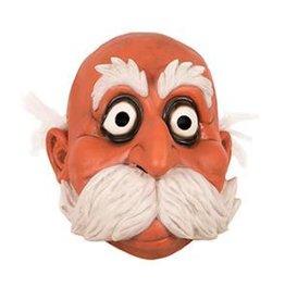 latex masker man met witte snor