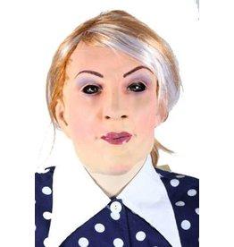 latex masker vrouw met lang haar