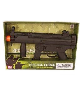 machine geweer met geluid zwart mitraillette
