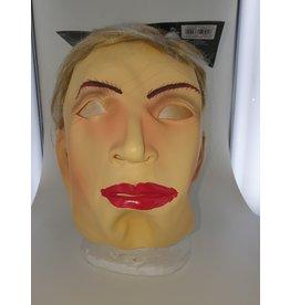 masker latex vrouw met lang haar