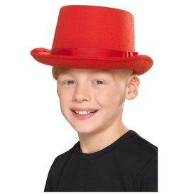 hoge hoed rood kind