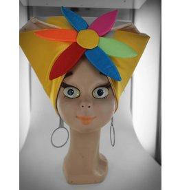 hoed caribisch geel met bloem
