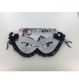 Zilver oogmasker met zwart