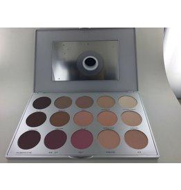 kryolan Eye shadow blush compact palet 15kleuren