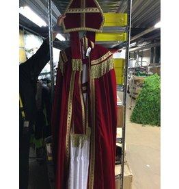Sint fluweel met cape rood