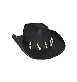 Cowboyhoed zwart tanden