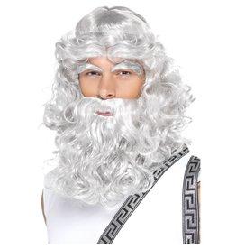 Zeus baard en pruik