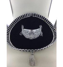Sombrero luxe zwart