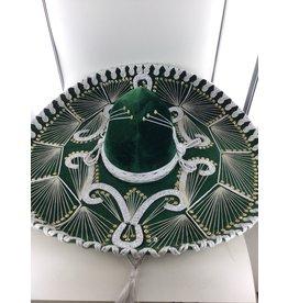 Sombrero luxe groen wit