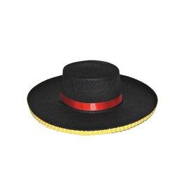 Spaanse hoed zwart