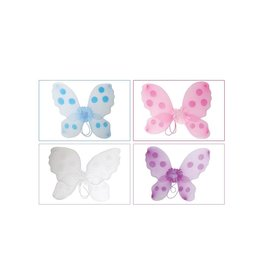 vlinder vleugels blauw  42 x 42 cm