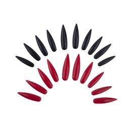 lange nagels rood 10 stuks