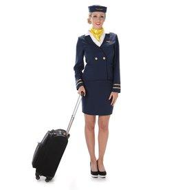 Blue Flight Attendant