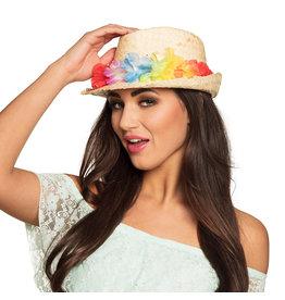 hoed Aruba met bloemenkrans