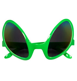 partybril alien groen