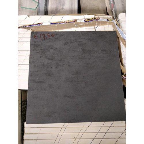 Outlet Vloertegel Concept Nero 60X60 Cm P/M2 Op=Op