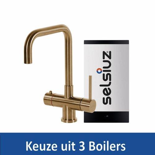 Kokendwaterkraan Steel Haaks Gold Inclusief Boiler (Keuze uit 3 boilers)