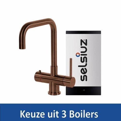 Kokendwaterkraan Steel Haaks Copper Inclusief Boiler (Keuze uit 3 boilers)