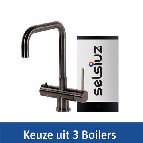 Kokendwaterkraan Steel Haaks Gun Metal Inclusief Boiler (Keuze uit 3 boilers)
