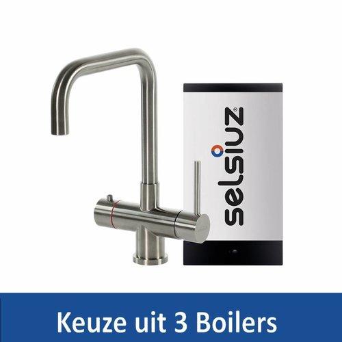 Kokendwaterkraan Steel Haaks RVS Inclusief Boiler (Keuze uit 3 boilers)