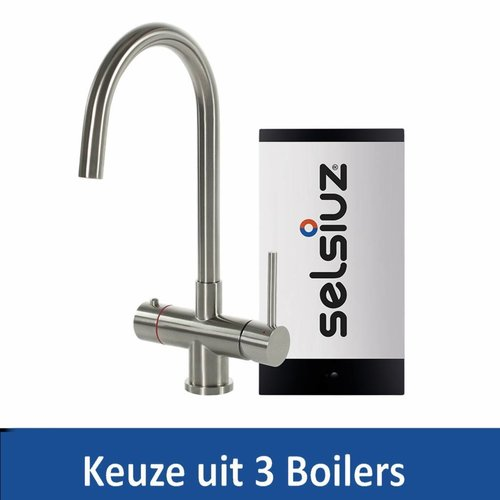 Kokendwaterkraan Steel Rond RVS Inclusief Boiler (Keuze uit 3 boilers)