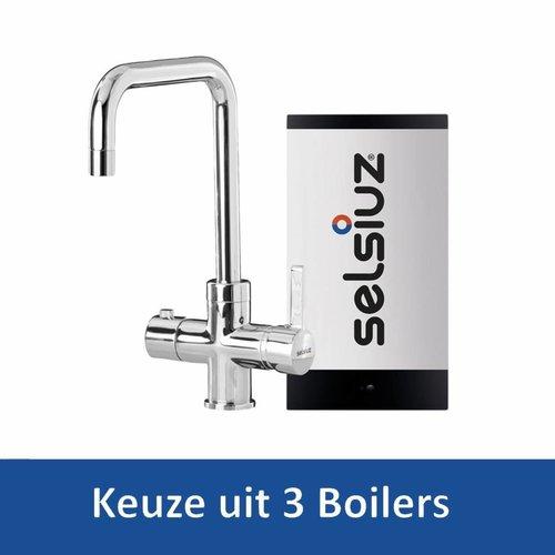Kokendwaterkraan Haaks Chroom Inclusief Boiler (Keuze uit 3 boilers)