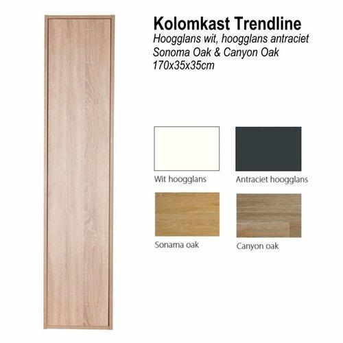 Kolomkast Trendline 170cm 35x35cm (verkrijgbaar in 4 kleuren)