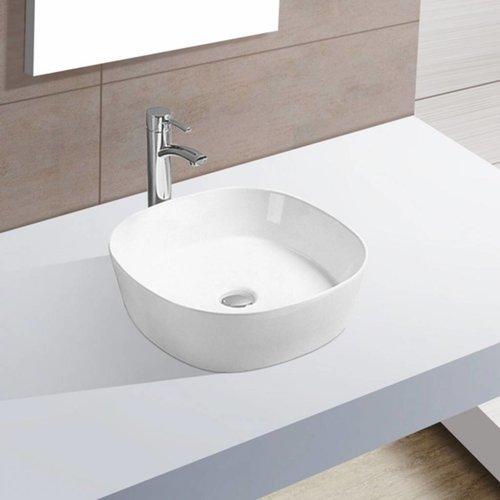 Waskom Sofia 44x44x13.5 cm Porselein Wit