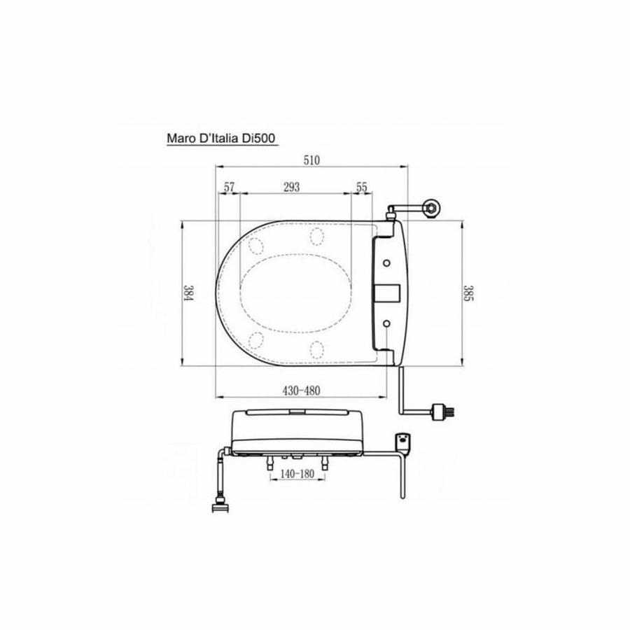 Verwarmde Toiletzitting Di500 Met Led Verlichting En Soft Close
