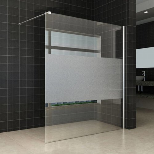 Douchewand 140X200Cm 8Mm Met Schaamband Nano Glas