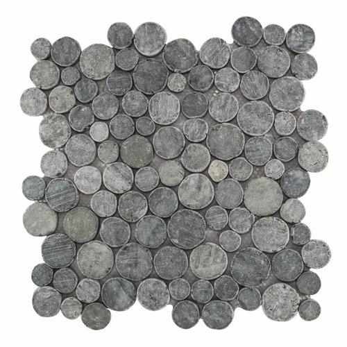 Mozaïek Coin Gray Blue Marmer 30X30 Cm (Prijs Per 1M²)