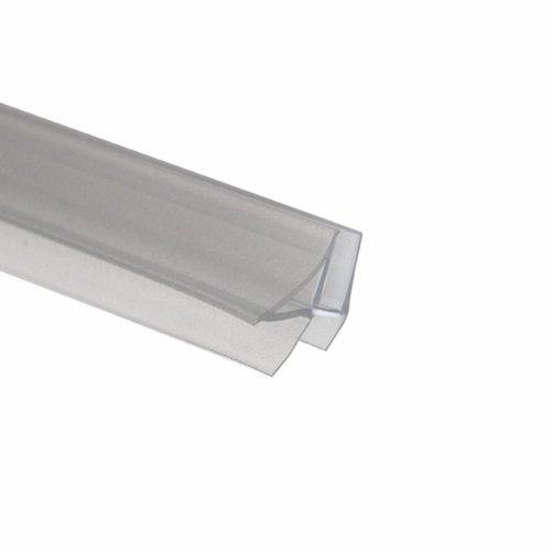 Afdichtprofiel Douchedeurstrip Horizontaal Met Aansluit-/Afsluitdelen Voor 8 Mm (Per Stuk)