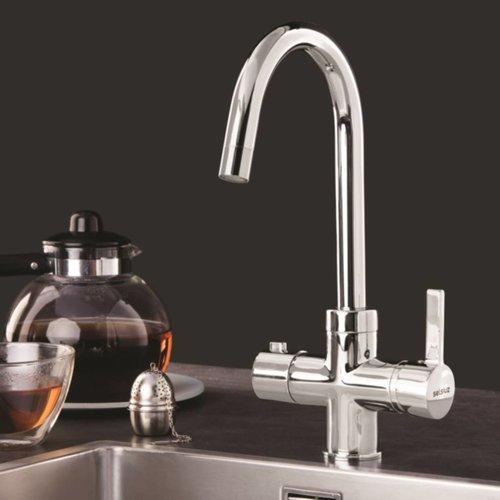 Kokend waterkraan Selsiuz Rond Chroom (Inclusief Boiler)