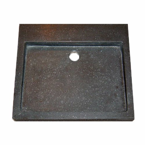 Wastafel Limestone Opbouw Zonder Kraangat 50X45X6Cm