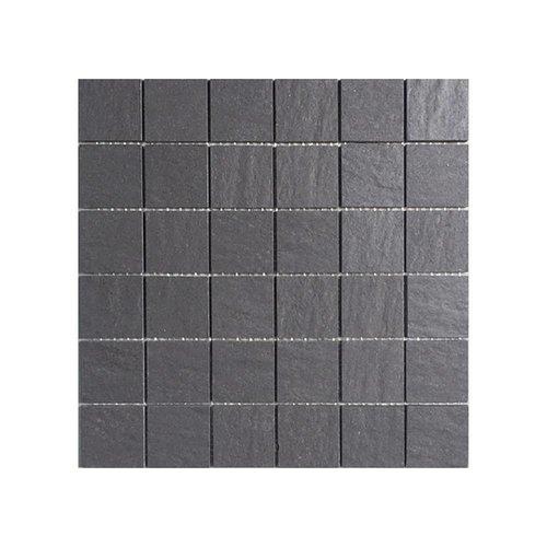 Cardoza Irox Black 5X5, Mat En Gerectificeerd (Prijs per Matje)