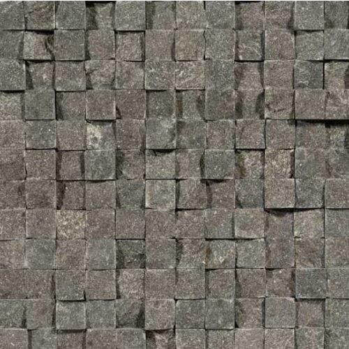 Chinees Hardsteen / Spotted Bluestone Cubic 2,3X2,3, Breukruw (Prijs per Matje)