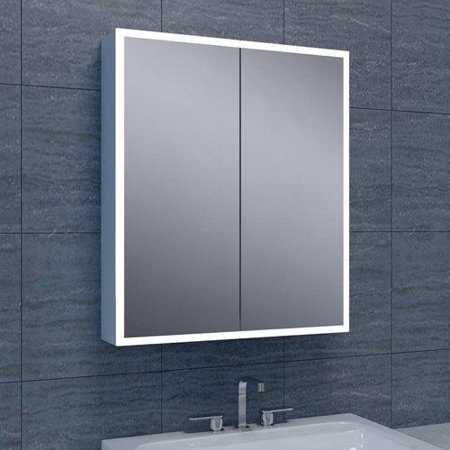 Spiegelkast Quattro Met Rand Verlichting 60X70X13 Aluminium
