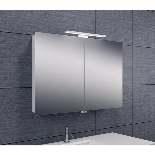 Spiegelkast Met Led Verlichting 90X60 Aluminium