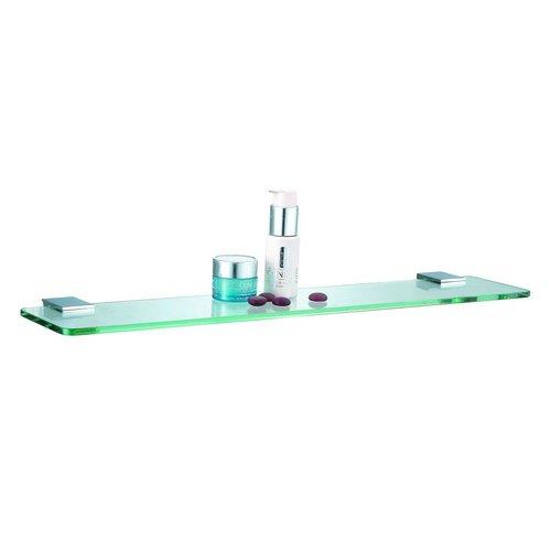 For Now Planchet Met Mat Glazen Tablet Messing Verchroomd 50 Cm