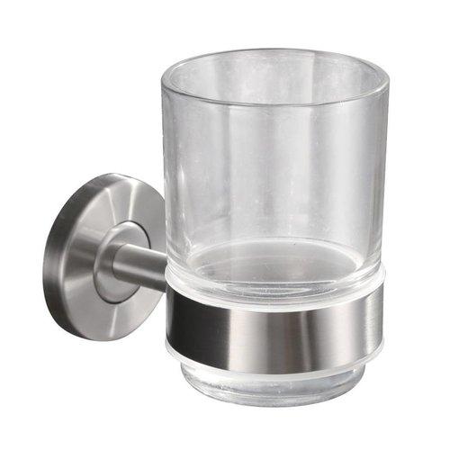 304-Glashouder Met Glas Rvs