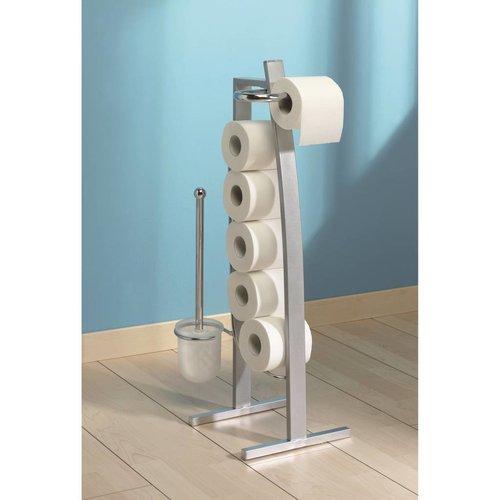 Toiletrolhouder Set Kyriel Alu Epoxy Gelakt Metaal