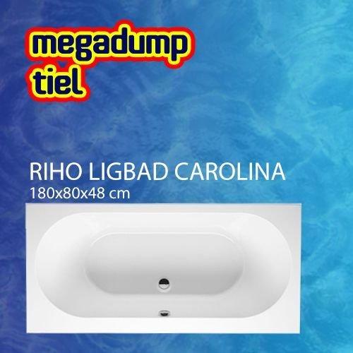Ligbad Carolina 180X80X48 Cm Wit