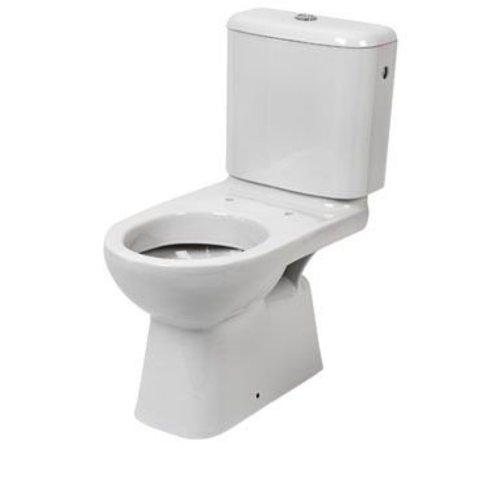 Brussel Duoblok Toiletpot Diepspoel Met Reservoir En Closetzitting Met Deksel
