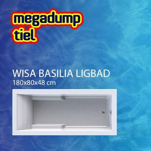 Basilia Shower Bad/Douchecombinatie 180X80 Cm Wit