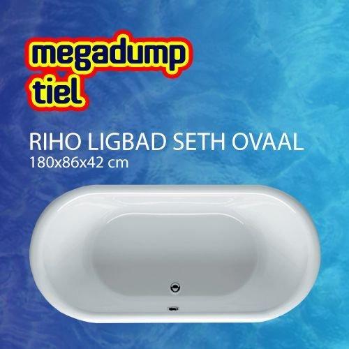 Ligbad Seth Ovaal 180X86X42 Cm Wit