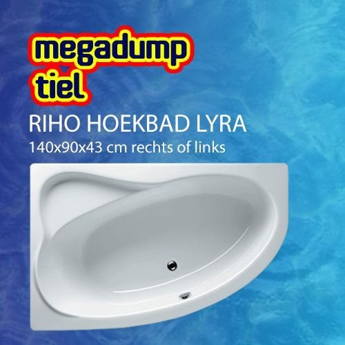 Hoekbad Lyra 140X90X43 Cm Rechts/Links Wit