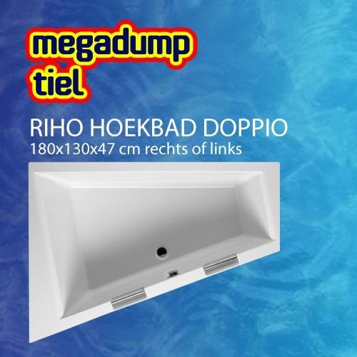 Hoekbad Riho Doppio 180X130X47 Cm Rechts/Links