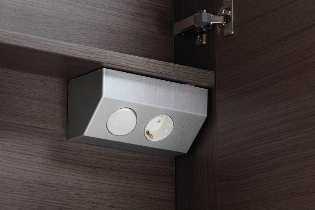 Aqua royal spiegelkast cm met tl verlichting en stopcontact