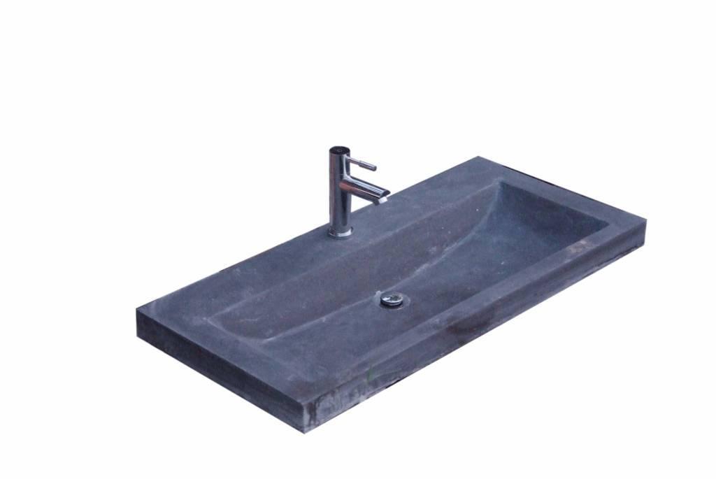 Fontein Natuursteen Toilet : Aqua royal hardsteen wastafel compact stone 80x38x5 cm wastafels