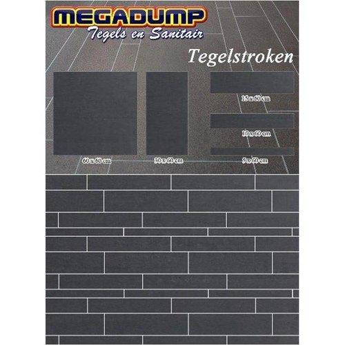 Tegelstroken Gmr 97 Donkere Tint 5,10,15X60 Cm (Wildverband Stroken) P/M²